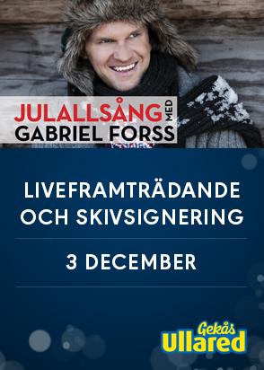 Gabriel Forss sjunger julsånger på Gekås