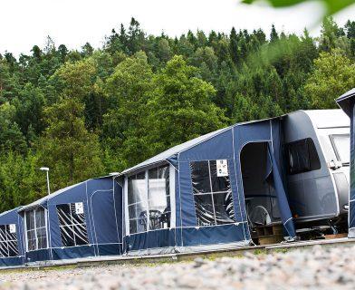Förtält på Gekås camping