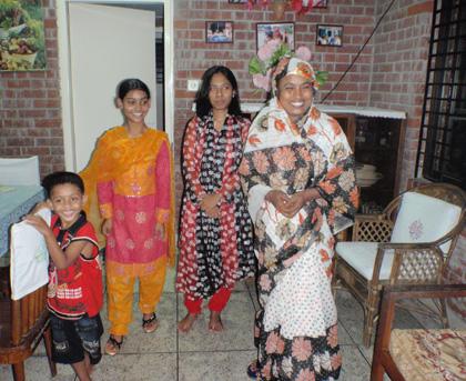 Familj i barnbyn