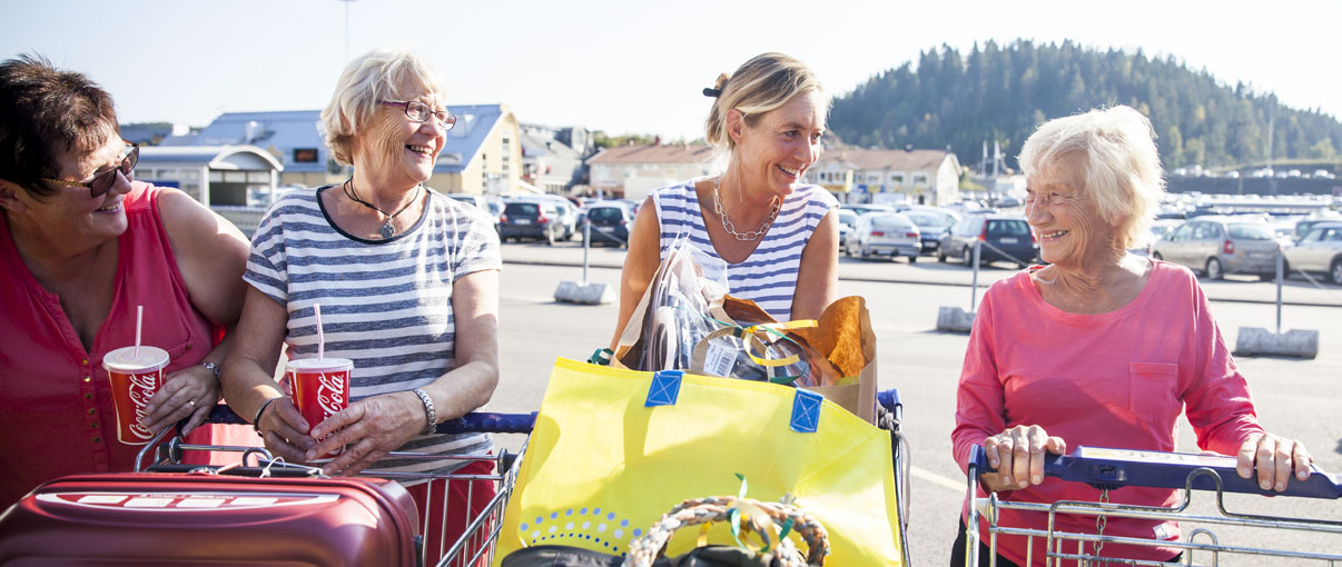 Gekås Ullared bussubventionering, danska damer på shoppingtur