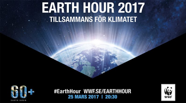 Earth hour Ullared 2017