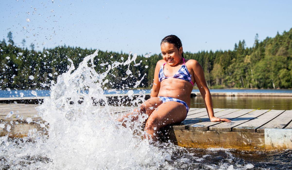 Gekså Ullared Musasjön bada