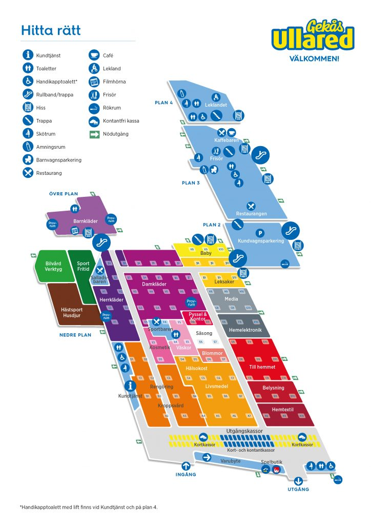 karta ullared Varuhuskarta | Gekås karta ullared