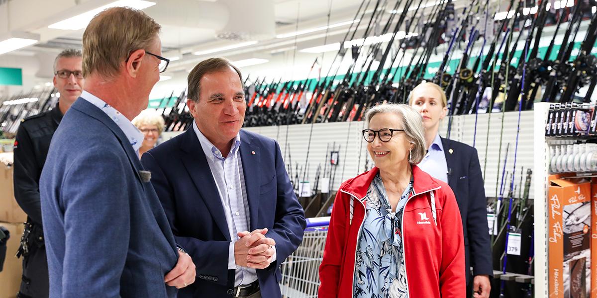 Statsminister Stefan Löfven besökte Gekås Ullared | Gekås