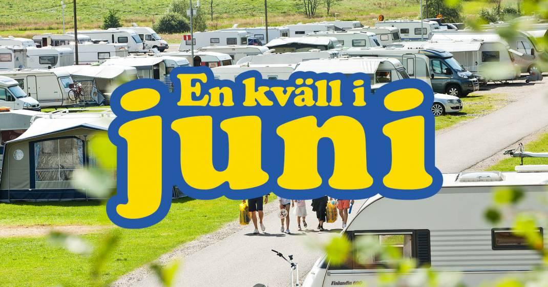 Festivalcamping i samband med dansbandseventet En kväll i juni.