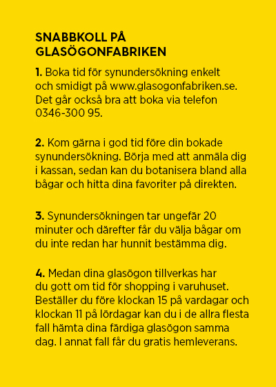 Snabbkoll på Glasögonfabriken, Gekås Ullared