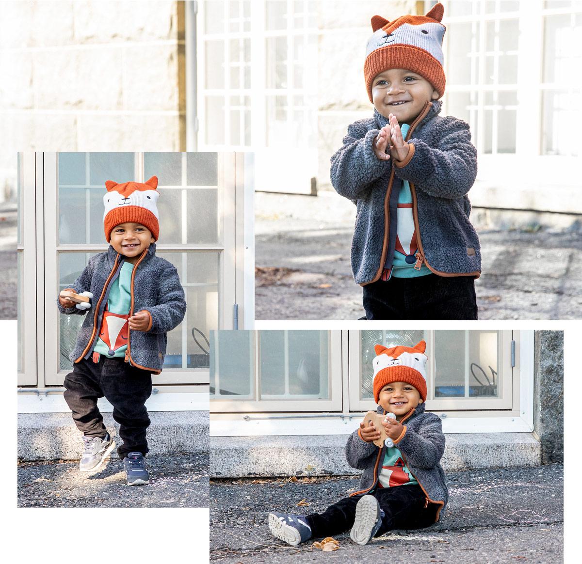 Köp Barn Flickor Kanin Tryck Vinter Varm Jacka Barn